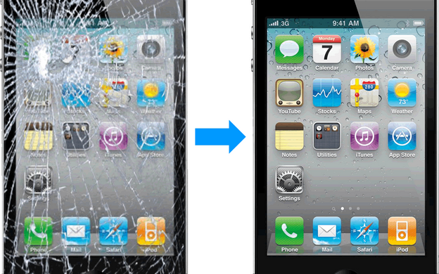 Cracked iPhone Glass Repair